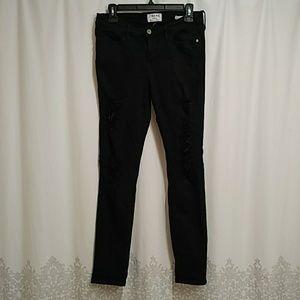 Frame denim destroyed skinny jean